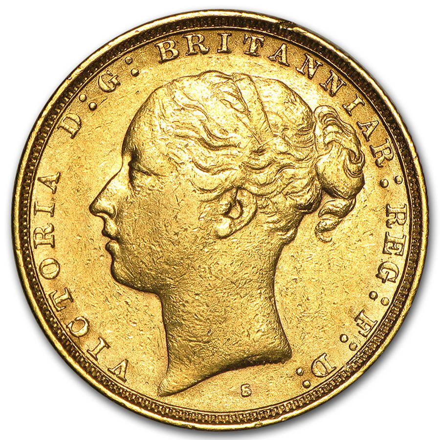 1871-1886 Australia Gold Sovereign Victoria XF