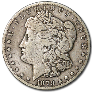 1879-CC Morgan Dollar Clear CC VF-30