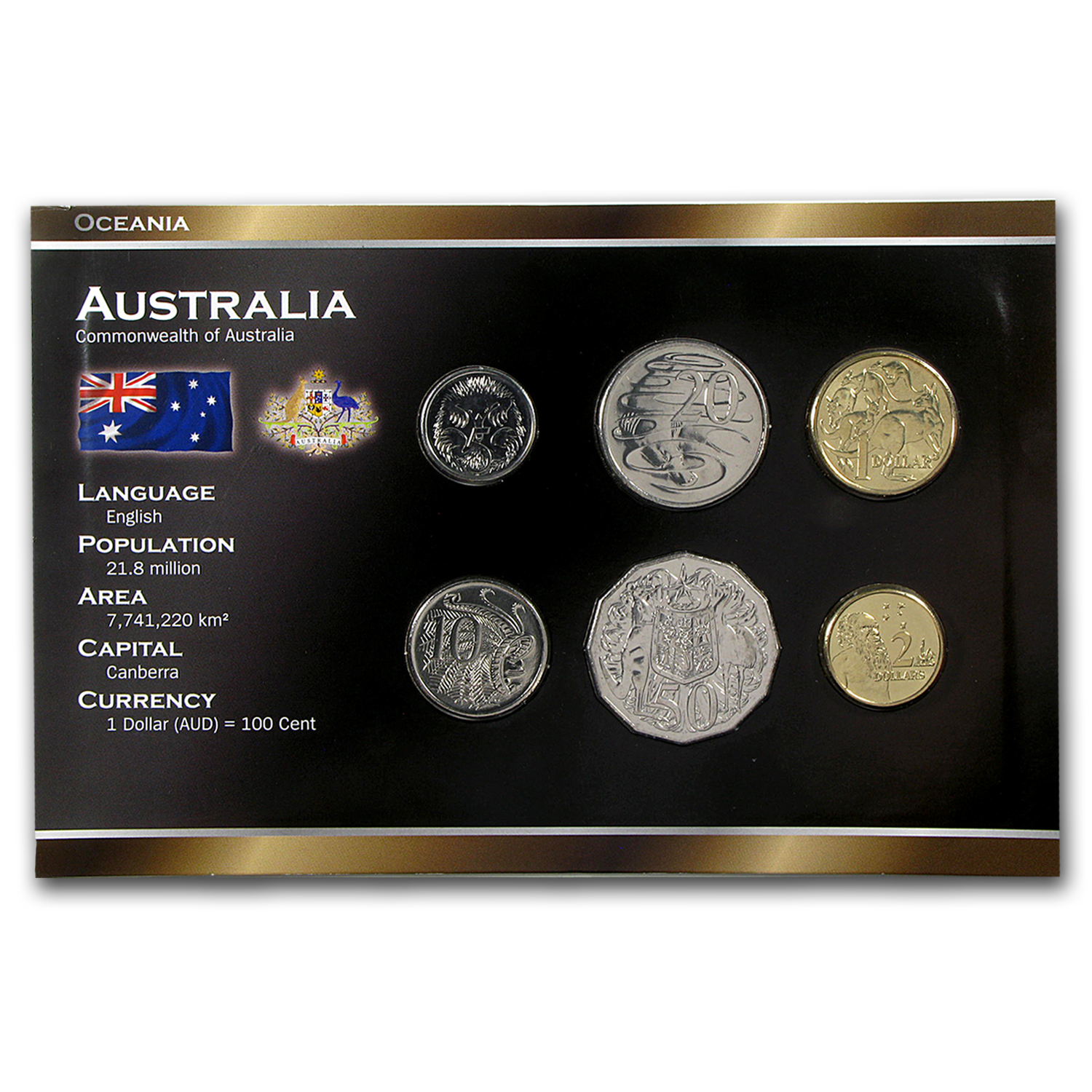 2000-2010 Australia 5 Cents-2 Dollars Coin Set BU