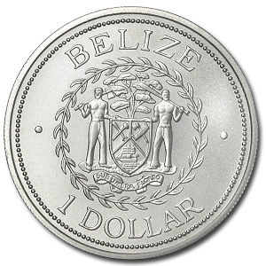 Belize 2002 Dollar 1 oz .999 Silver - Brilliant Uncirculated