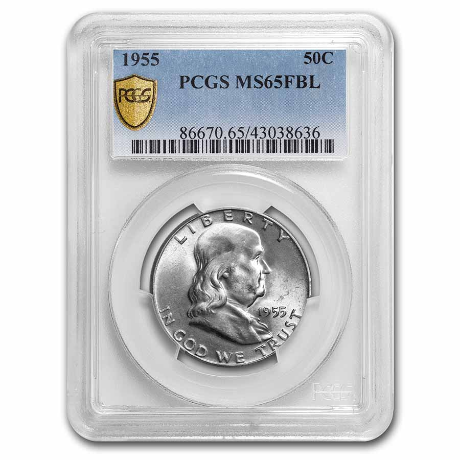 1955 Franklin Half Dollar MS-65 PCGS (FBL)
