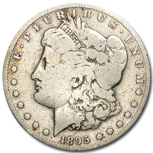 1895-S Morgan Dollar VG Details (Cleaned)