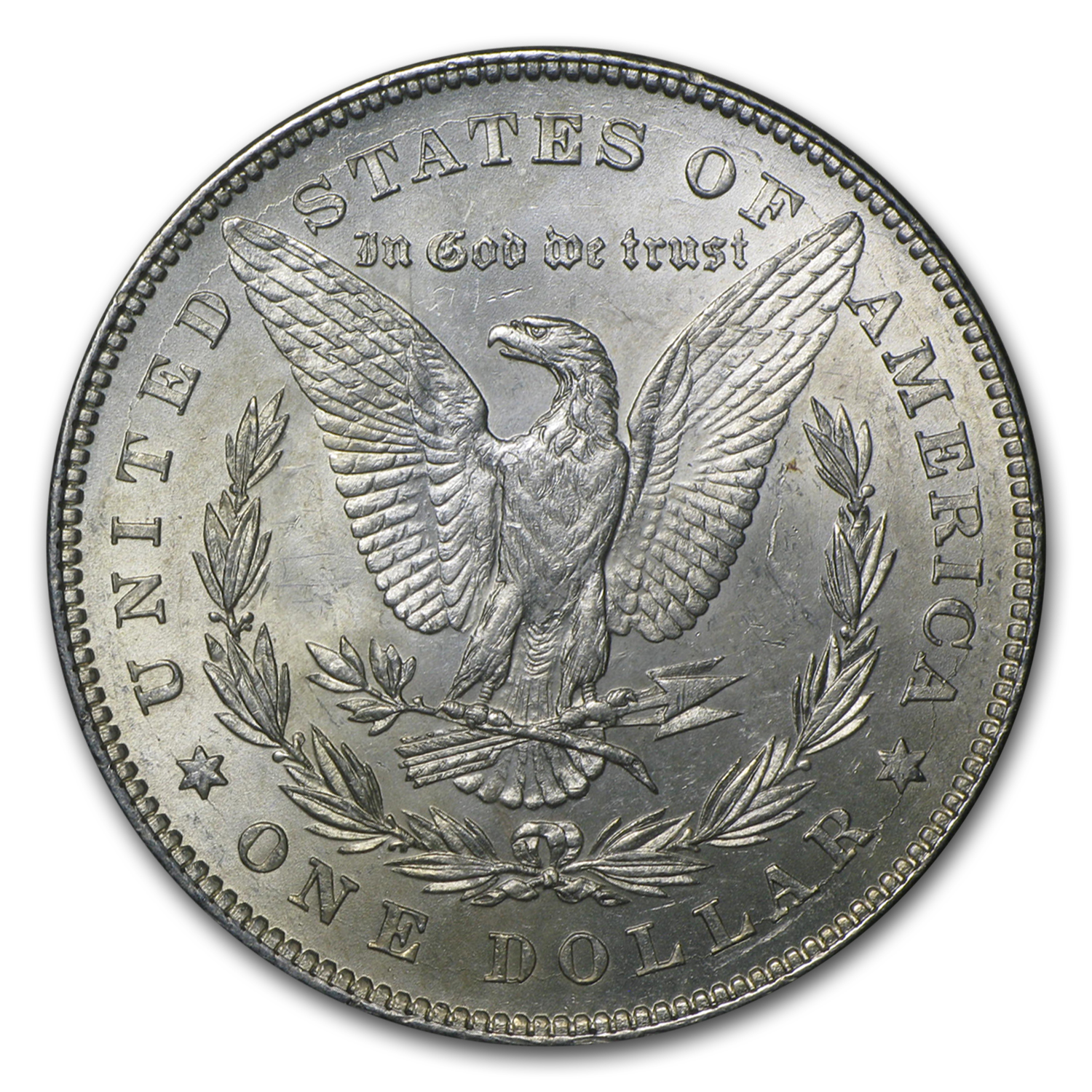 1878 Morgan Silver Dollar 7 Tailfeathers Rev of 78 BU