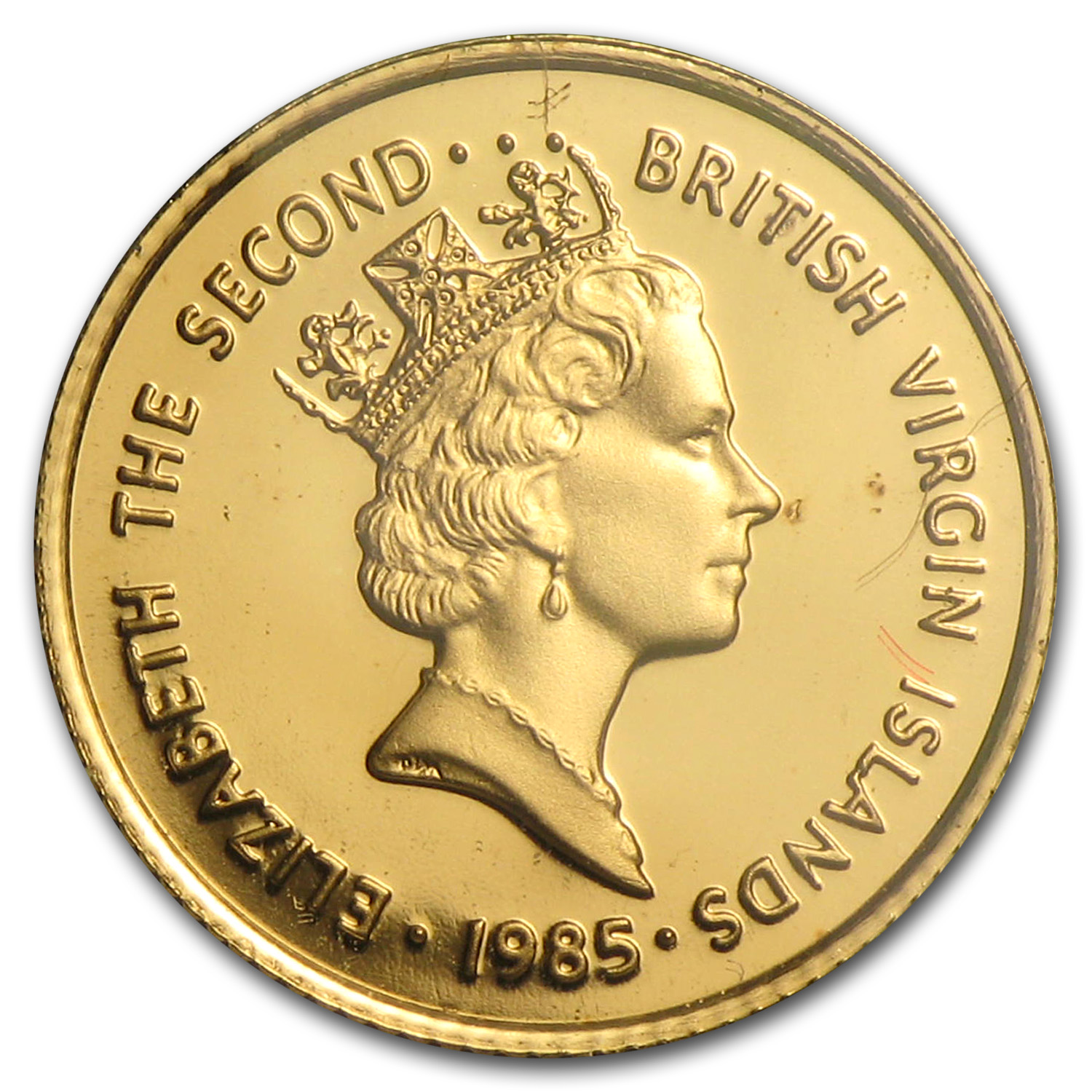 1985 British Virgin Islands Proof Gold 25 Dollars