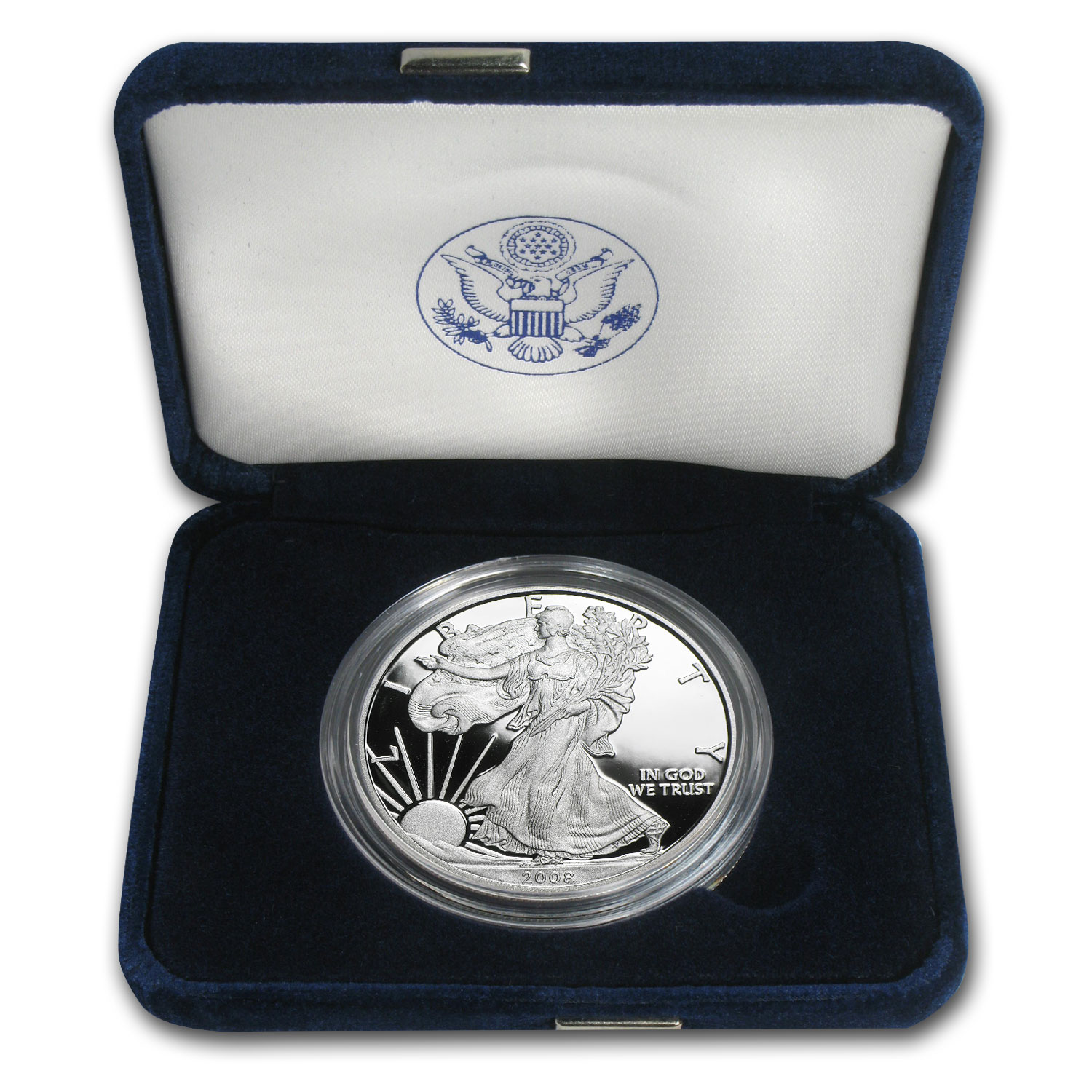 2008-W 1 oz Proof Silver American Eagle (w/Box & CoA)