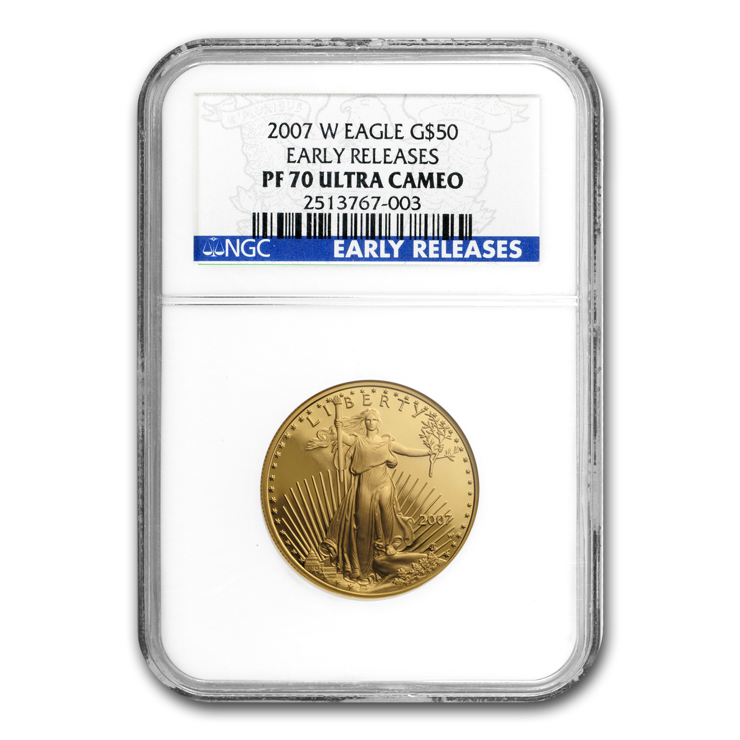 2007-W 4-Coin Proof Gold American Eagle Set PF-70 NGC (ER)