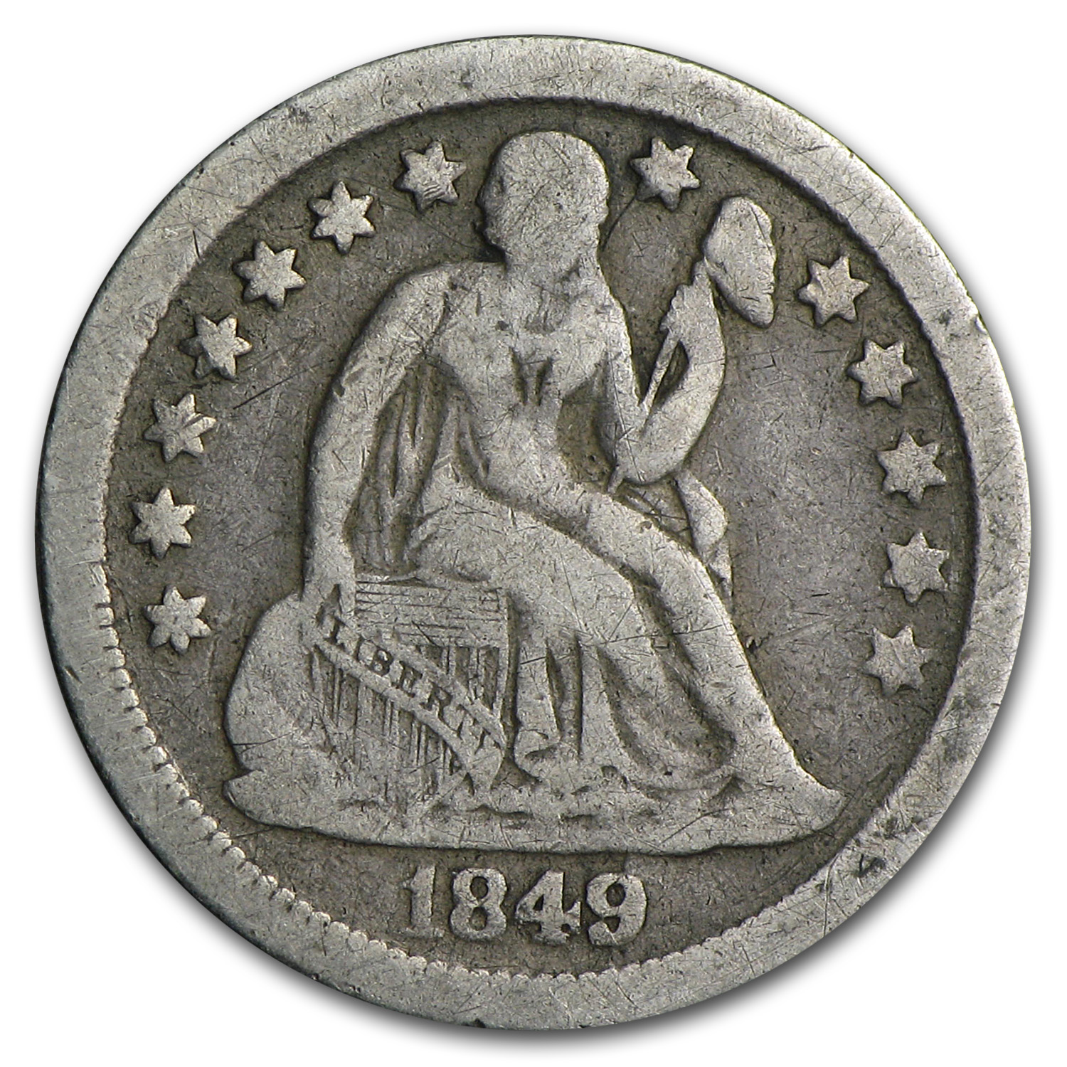 1849-O Liberty Seated Dime Fine