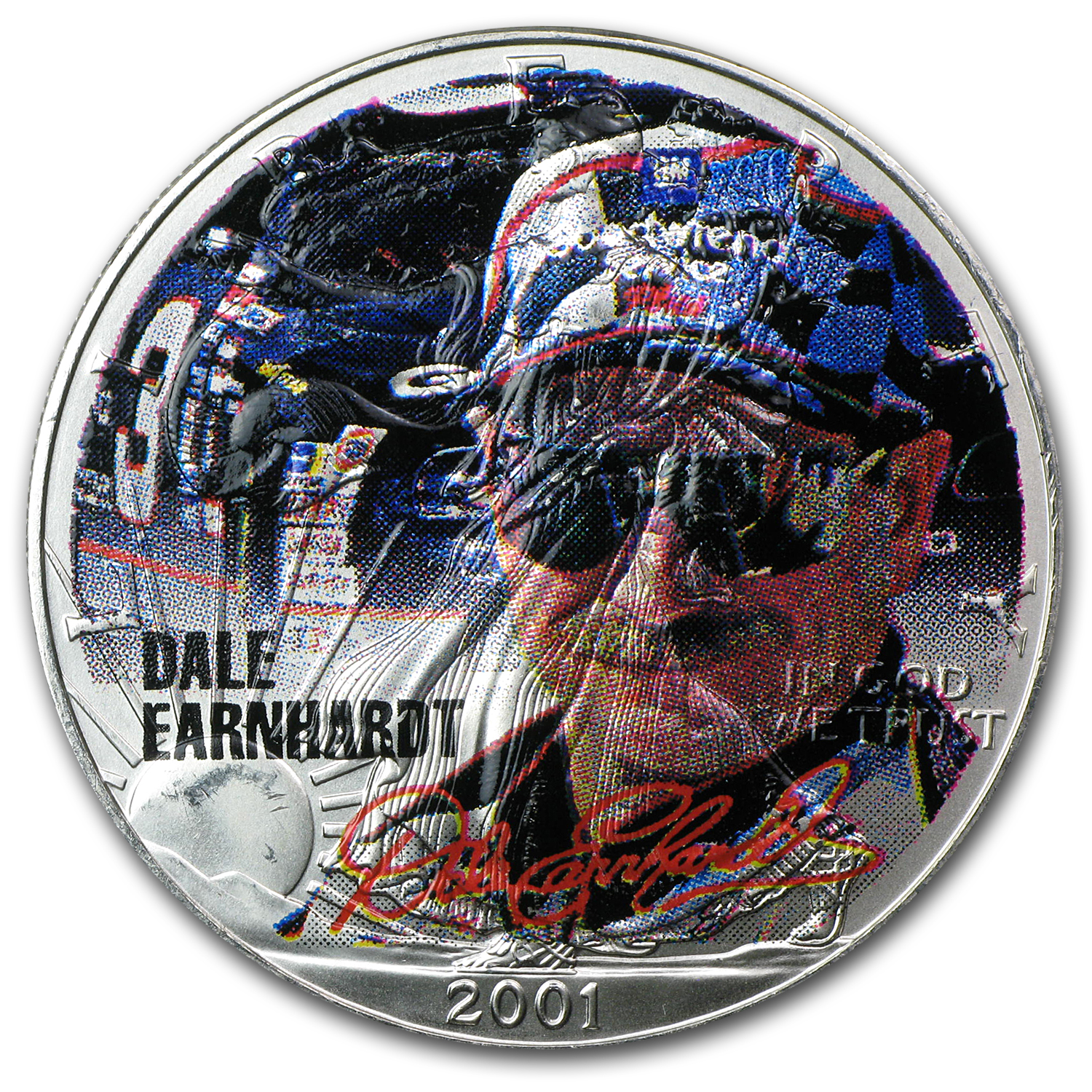 1 oz Silver American Eagle (Colorized) (Dale Earnhardt)