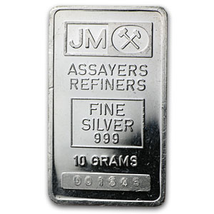 10 Gram Silver Bar - Johnson Matthey