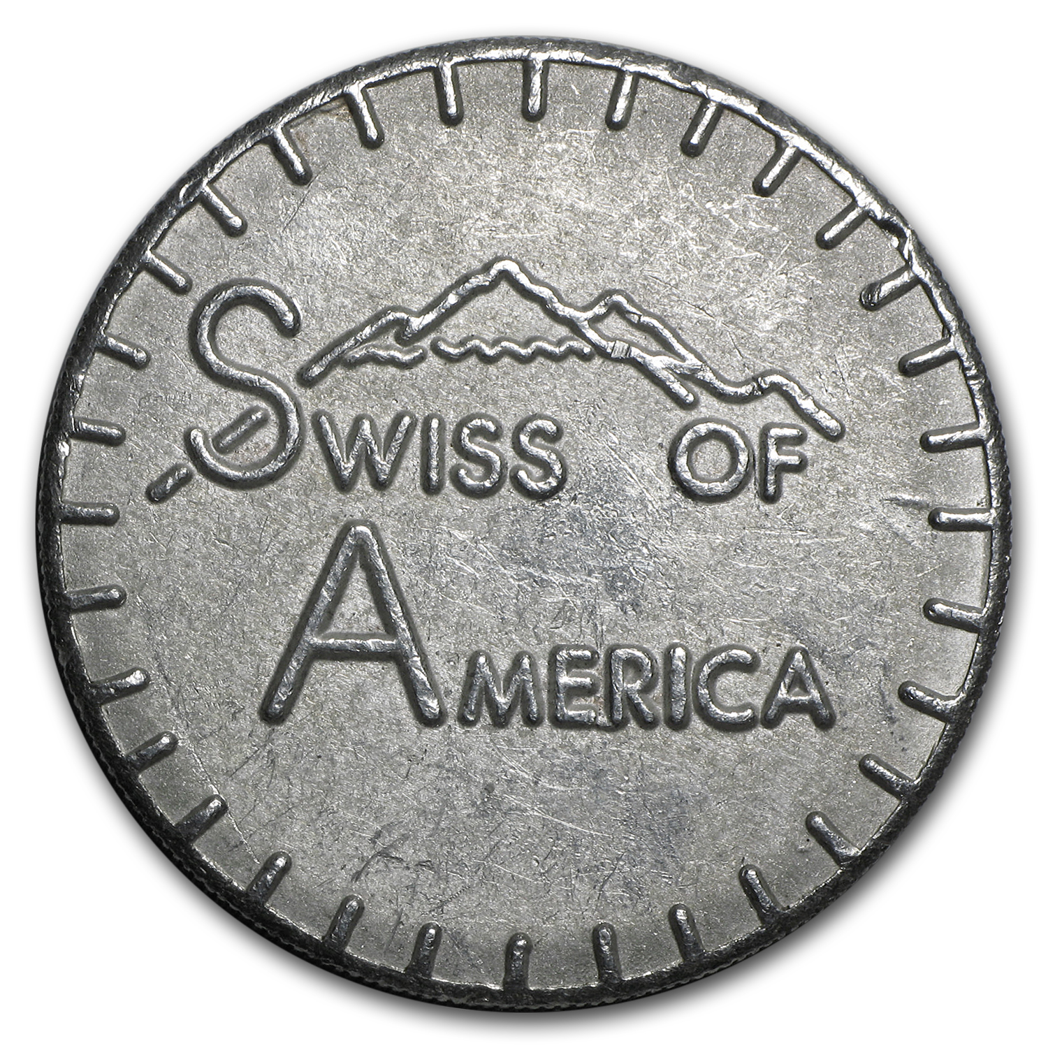 2 1/2 oz Silver Round - Swiss of America