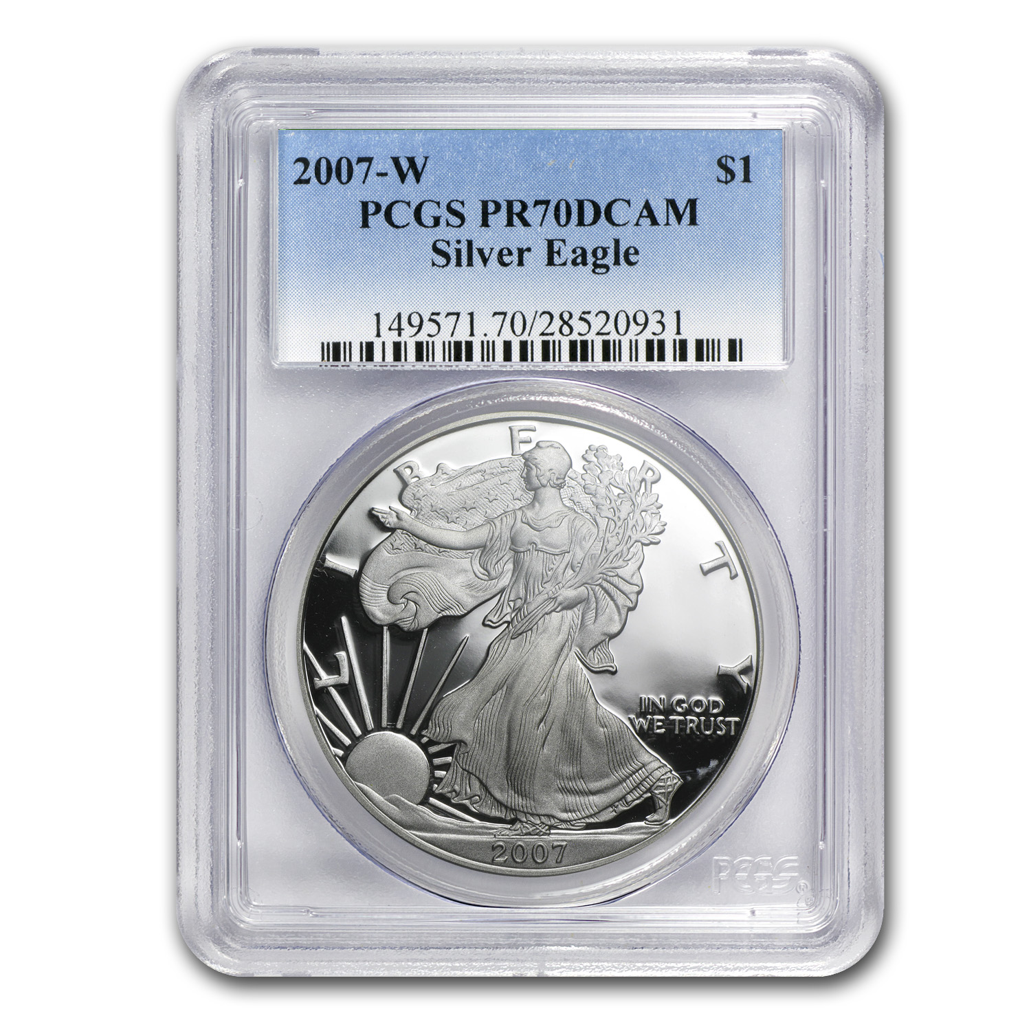 2007-W Proof Silver American Eagle PR-70 PCGS