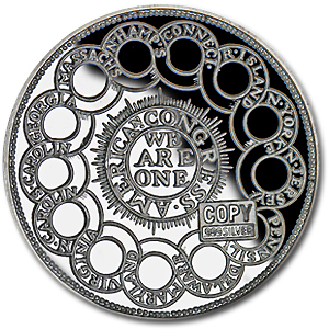 2 oz Silver Round - Continental Curency (Replica)