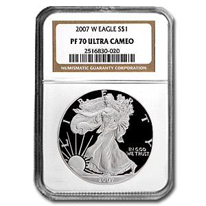 2007-W (Proof) Silver American Eagle - PF-70 UCAM NGC