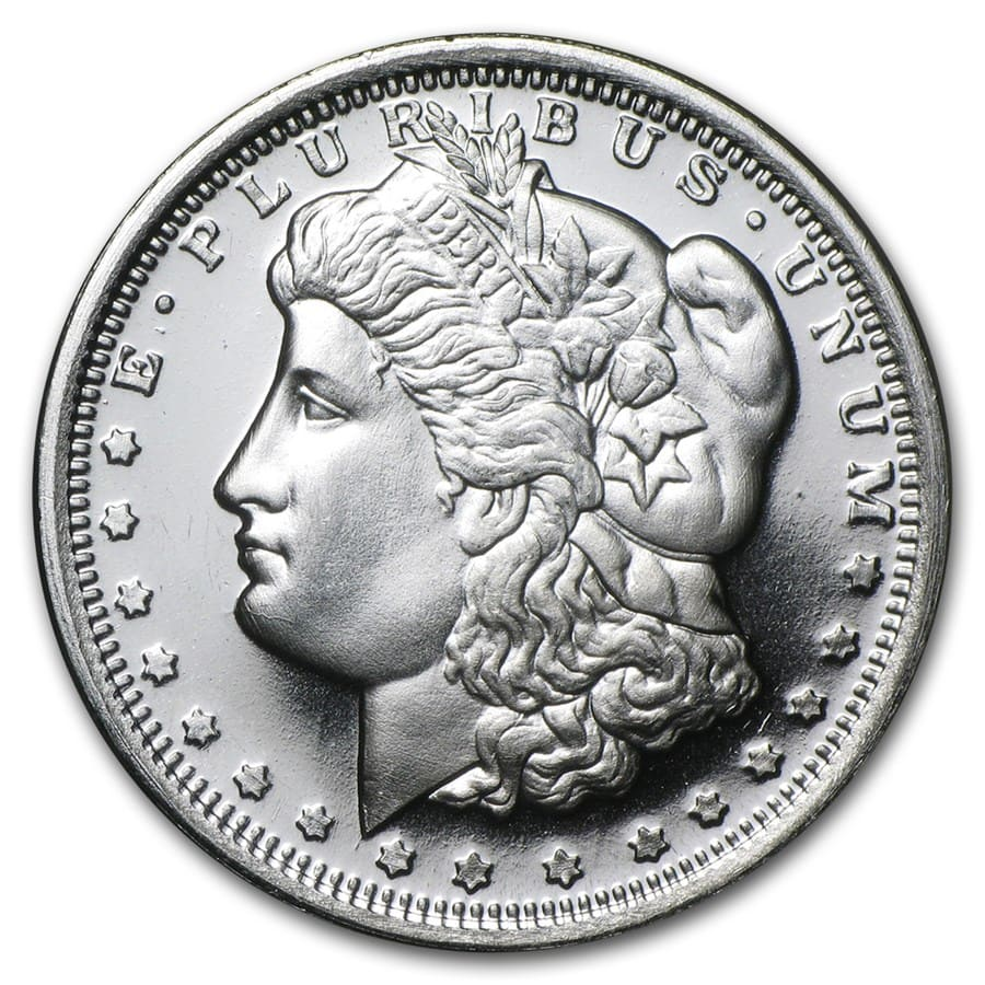 1 2 Oz Silver Round Morgan Dollar Fractional Less