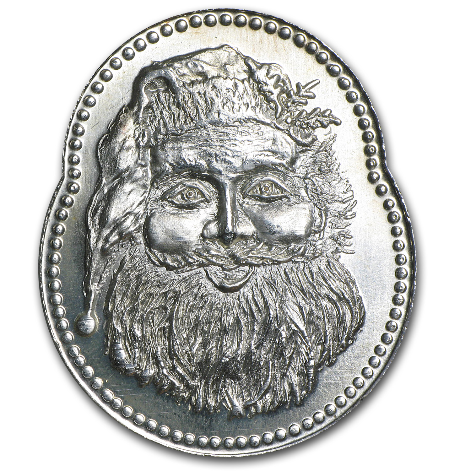 1 oz Silver Oval - Santa Claus (Christmas)