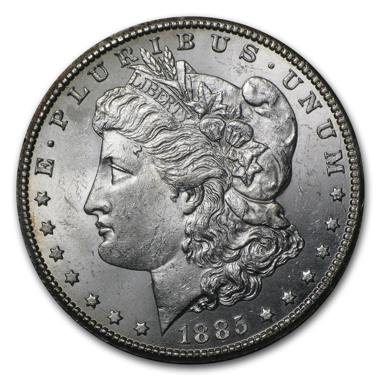 1885-CC Morgan Dollar BU