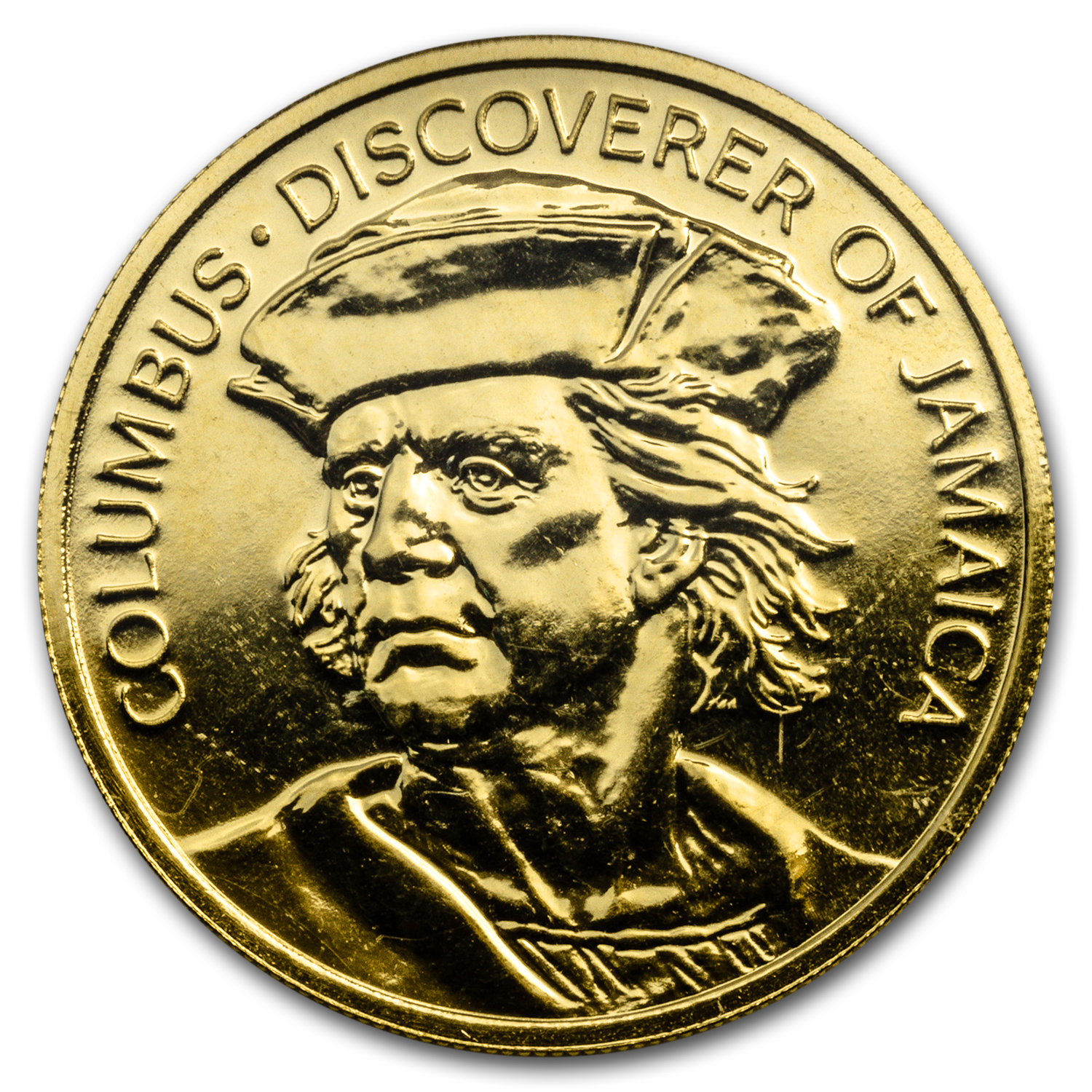 1975 Jamaica Proof Gold 100 Dollars Columbus