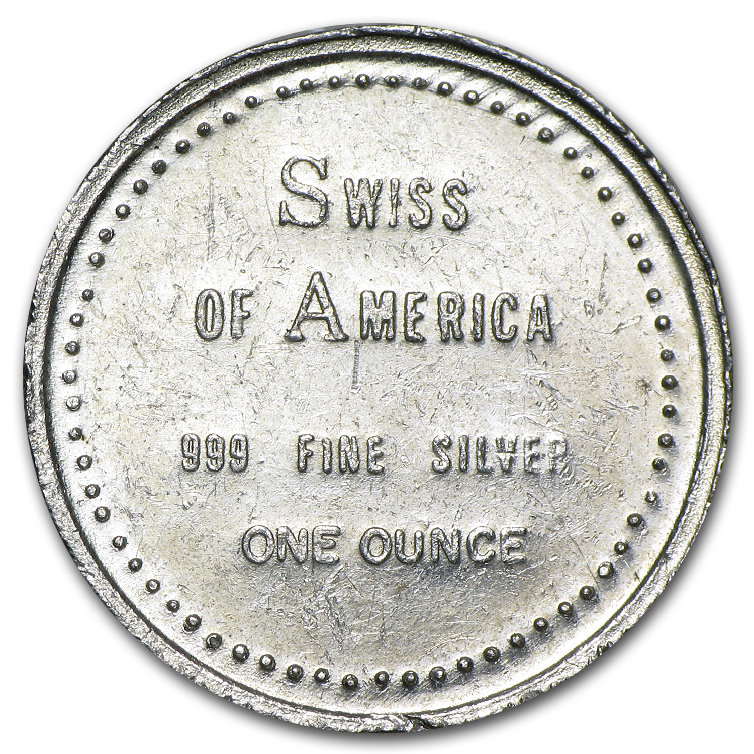 1 oz Silver Round - Swiss of America (23.5 mm)