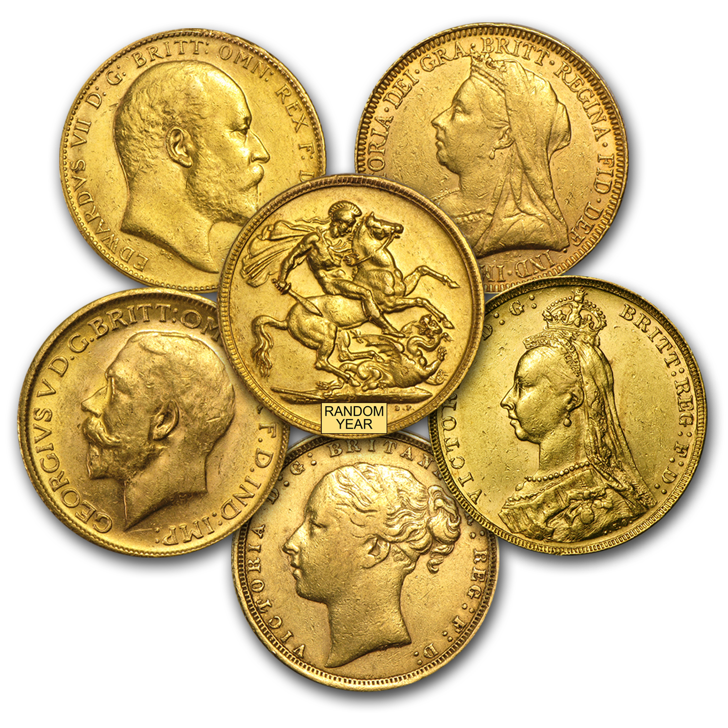 Great Britain Gold Sovereigns (Scruffy, Cleaned &/or Damaged)