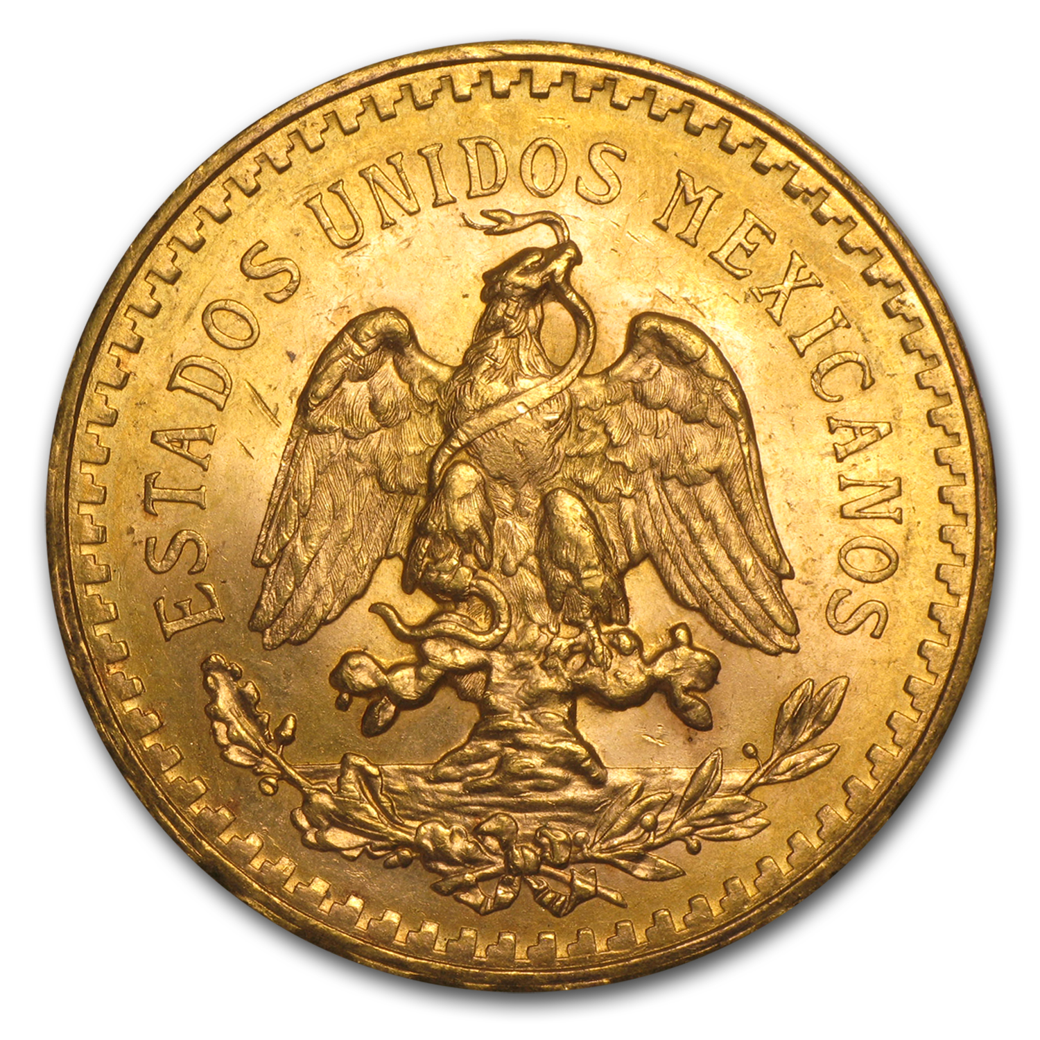 1945 Mexican Gold 50 Pesos (Brilliant Uncirculated)