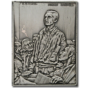 2.08 oz Silver Bar - Norman Rockwell (Freedom of Speech)