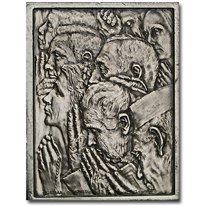 2.08 oz Silver Bars - Norman Rockwell (Freedom of Worship)