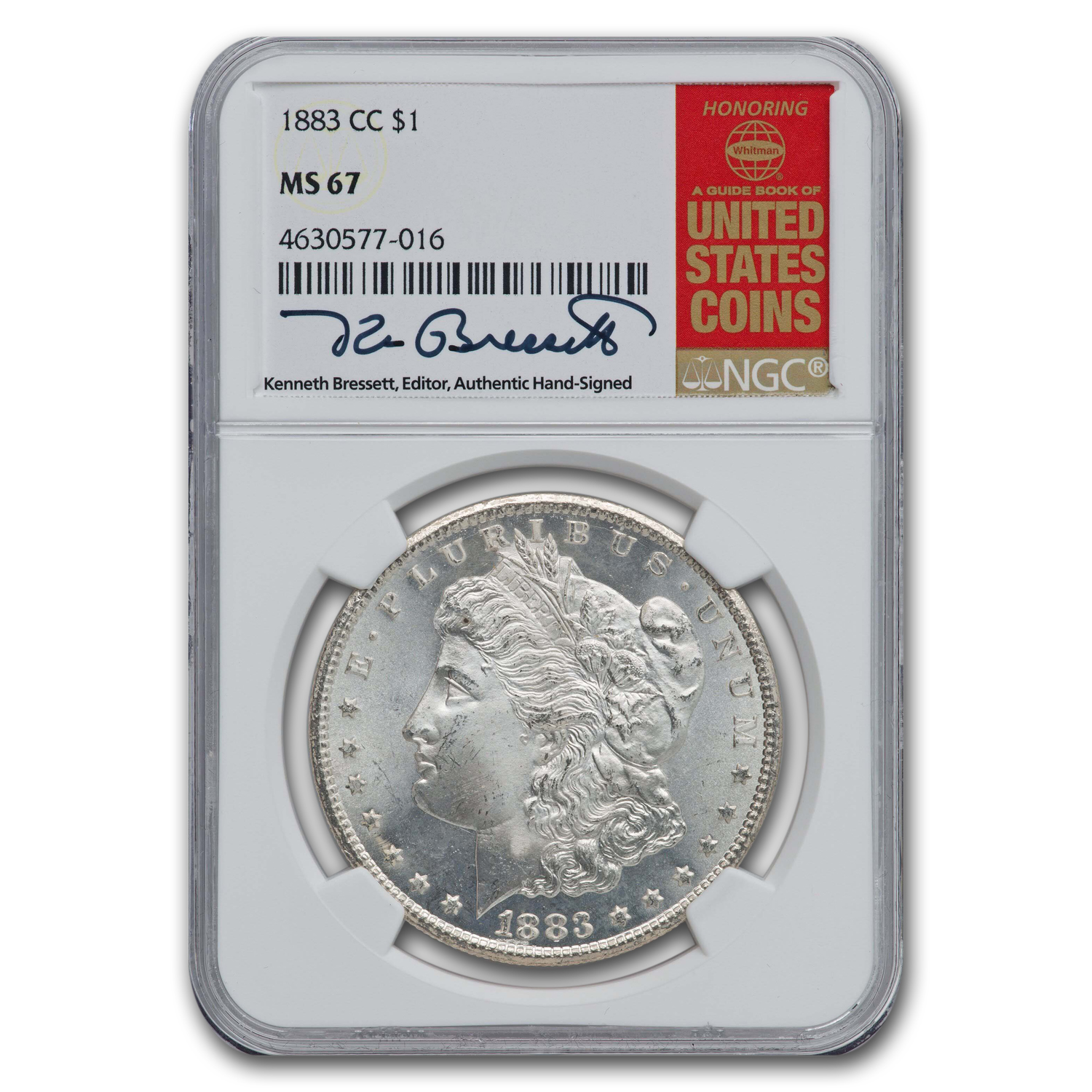 1883-CC Morgan Dollar MS-67 NGC