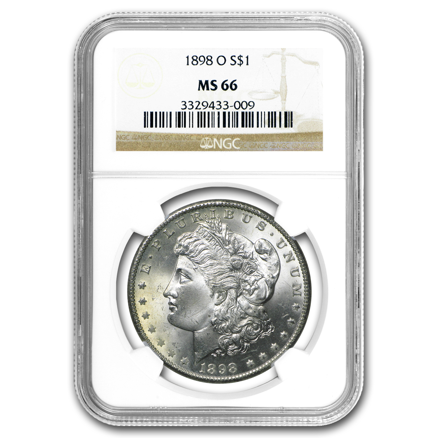 1898-O Morgan Dollar - MS-66 NGC