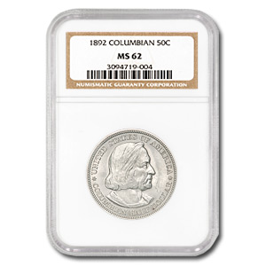 1892 Columbian Expo Half Dollar MS-62 NGC