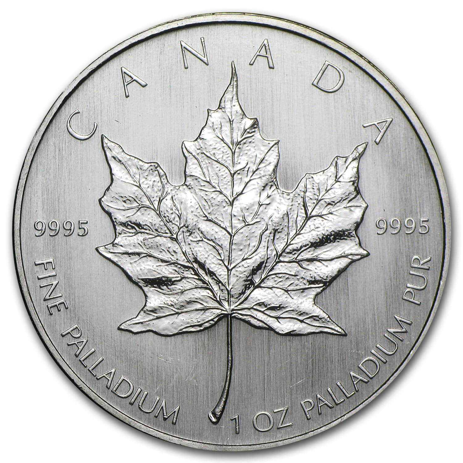 Canada 1 oz Palladium Maple Leaf BU (Random Year)