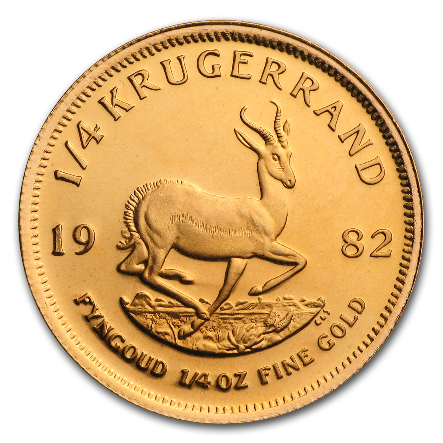 1982 South Africa 1/4 oz Proof Gold Krugerrand