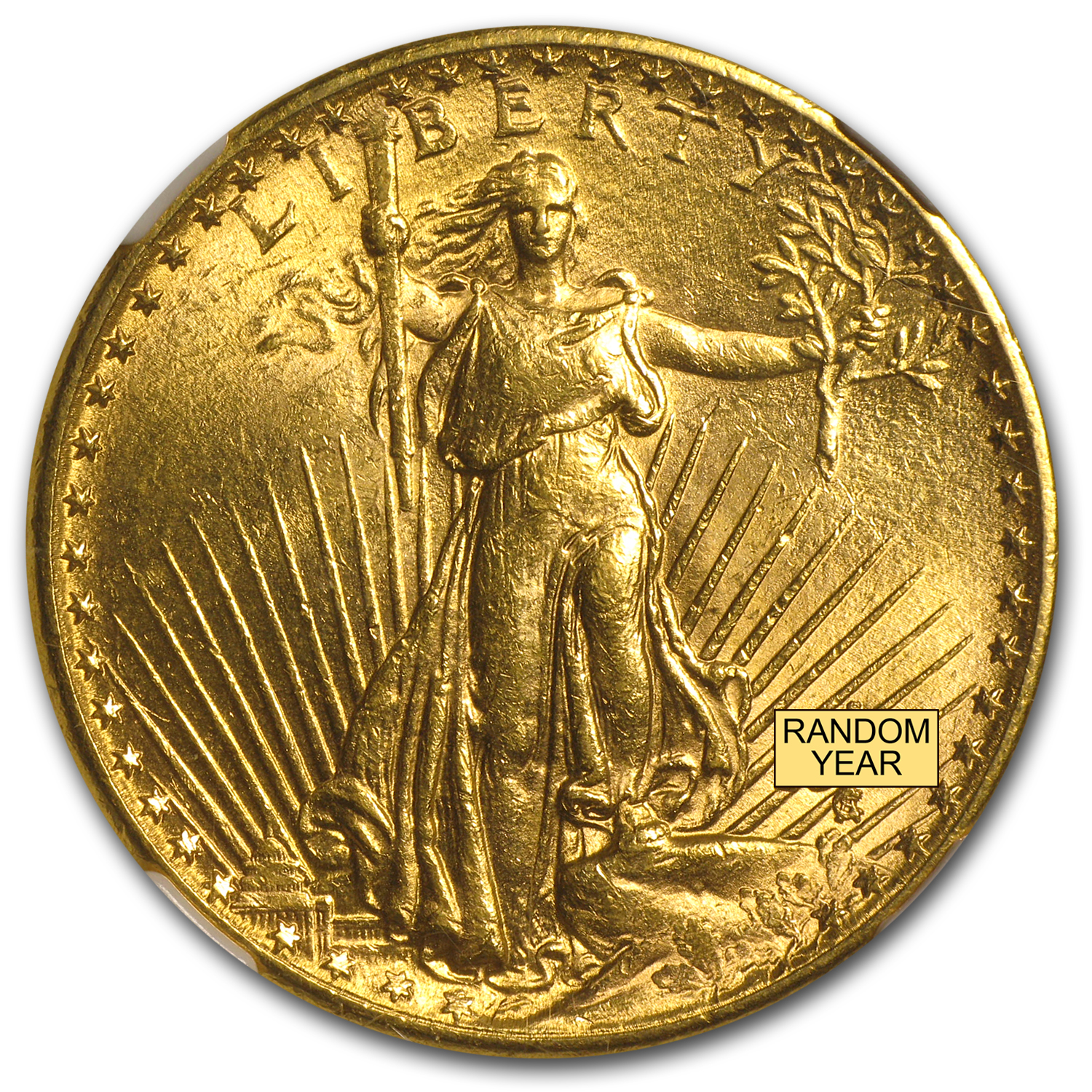 $20 Saint-Gaudens Gold Double Eagle MS-61 NGC (Random)