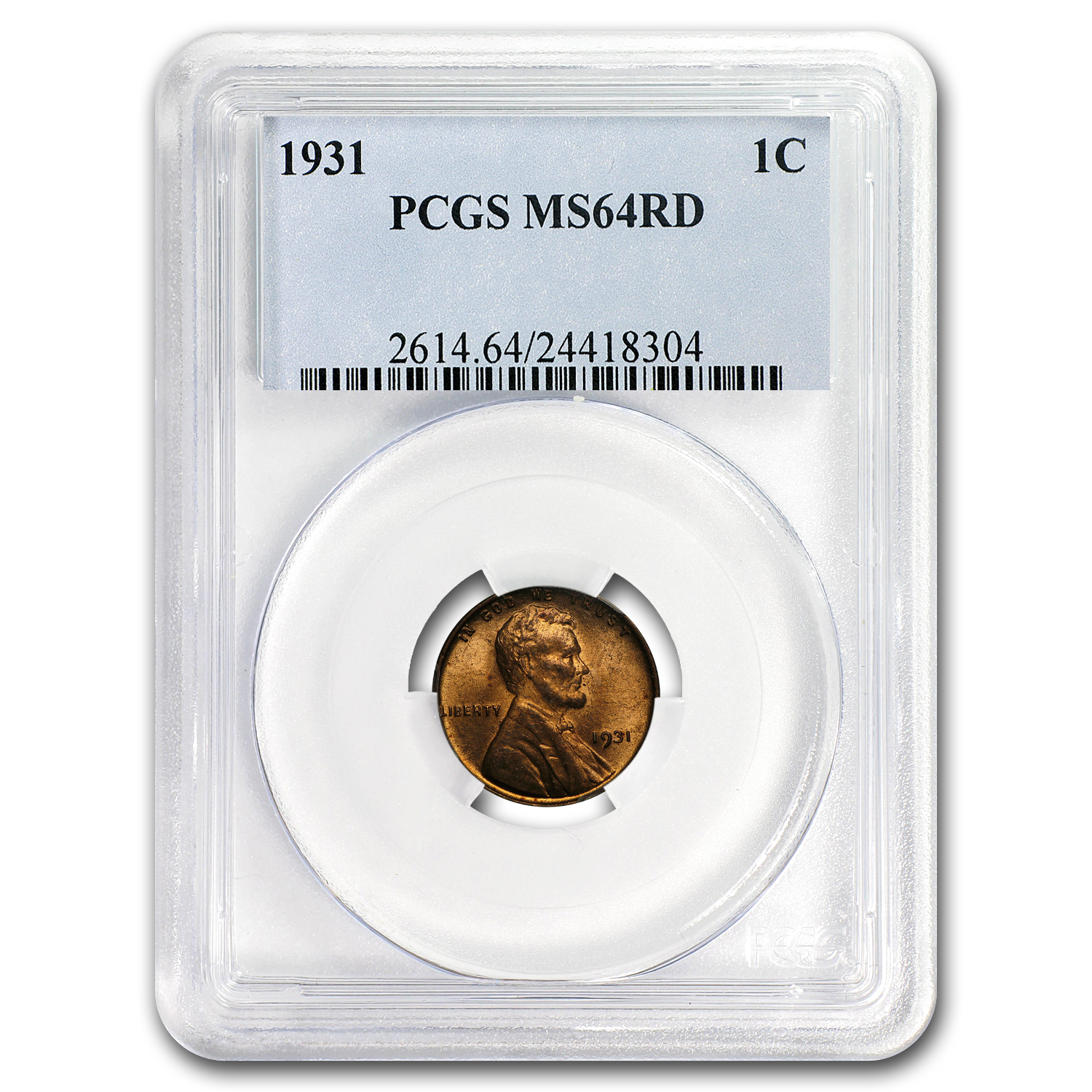 1931 Lincoln Cent MS-64 PCGS (Red)