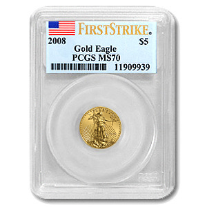 2008 1/10 oz Gold American Eagle MS-70 PCGS (FS)