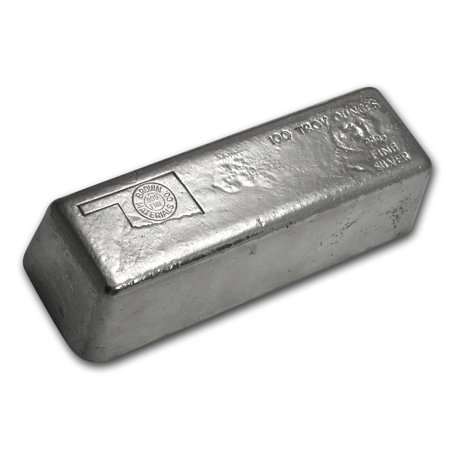 100 oz Silver Bar - Brown Materials