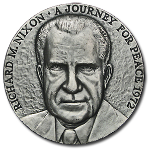 5.355 oz Silver Rounds - Richard M. Nixon