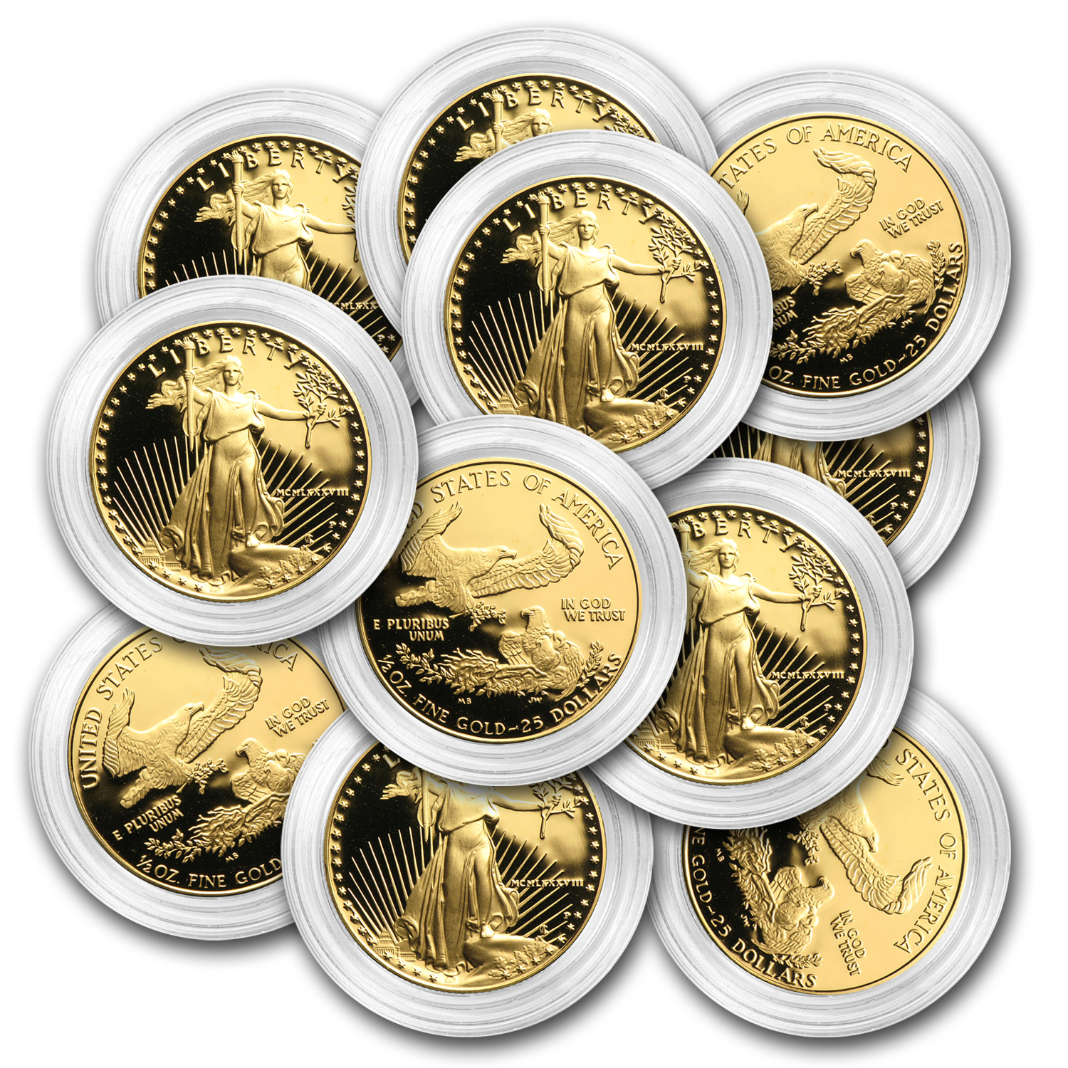 1/2 oz Proof Gold American Eagle (Capsule Only)