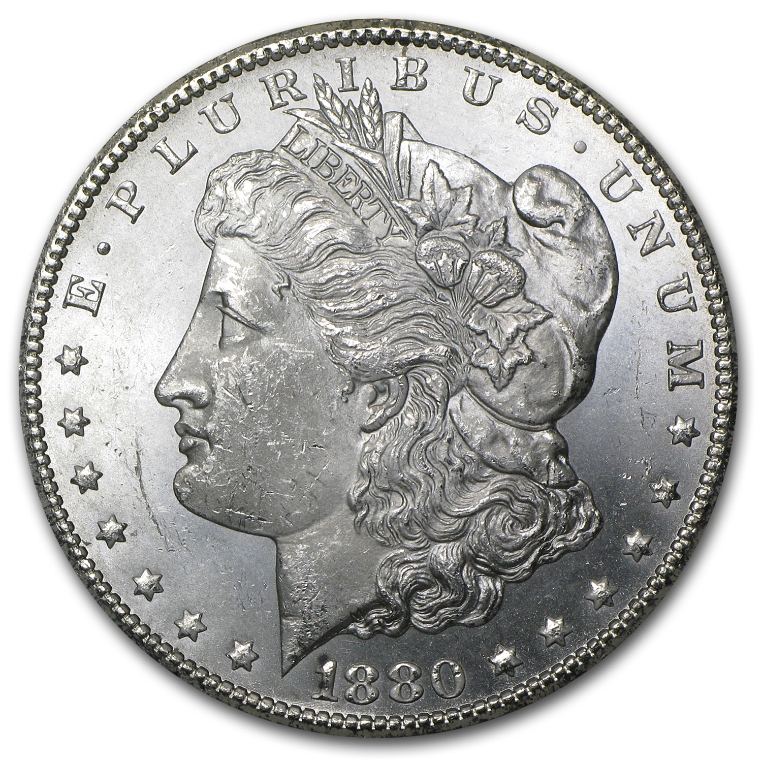 1880-CC Morgan Dollar BU