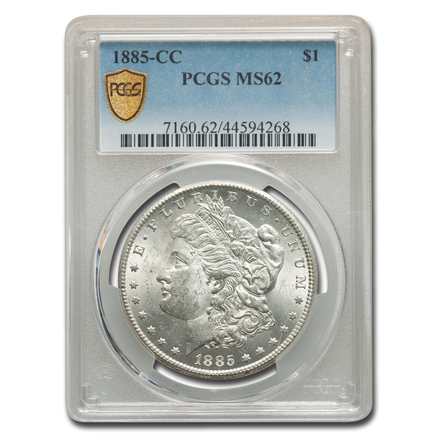 1885-CC Morgan Dollar MS-62 PCGS