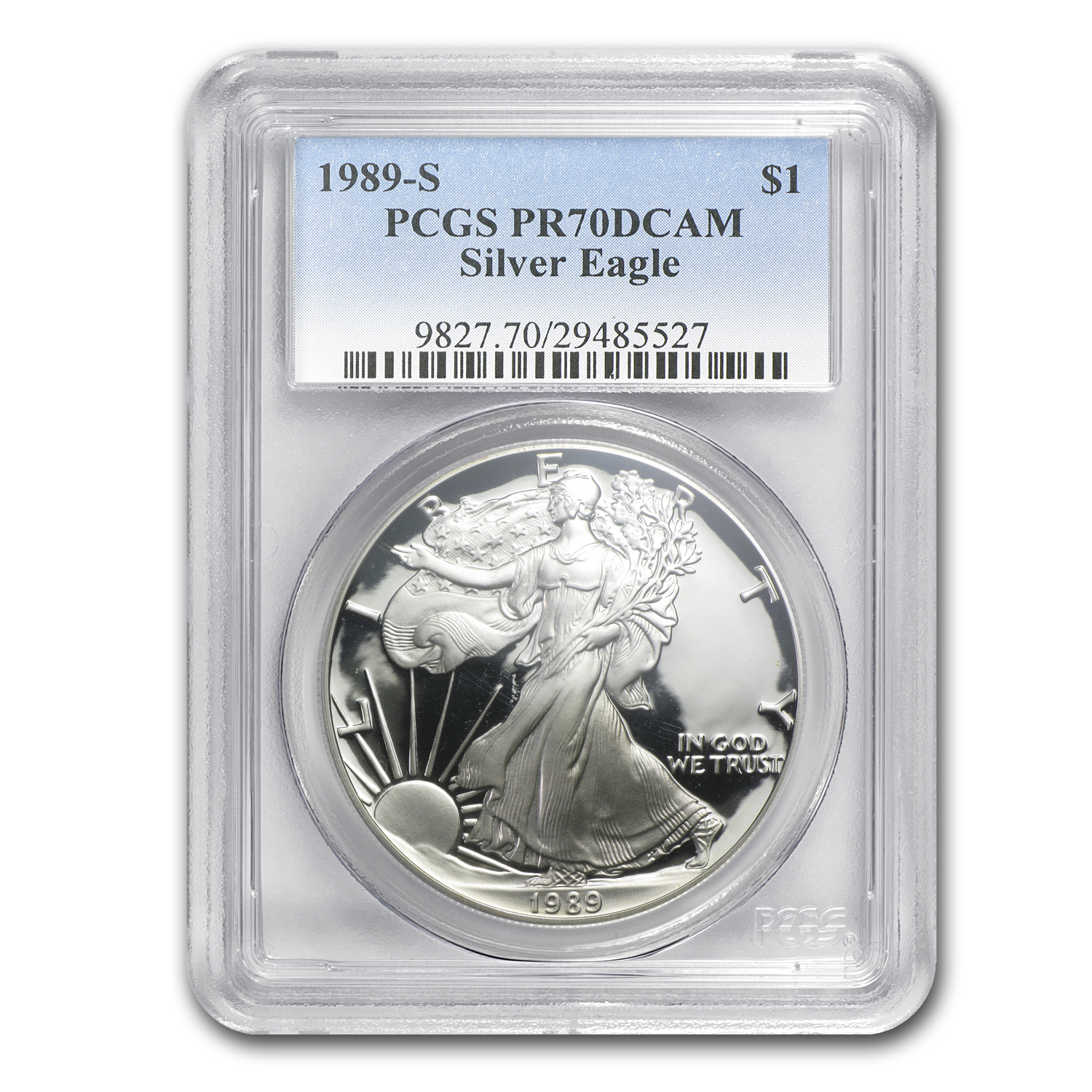1989-S Proof Silver American Eagle PR-70 PCGS (Registry Set)