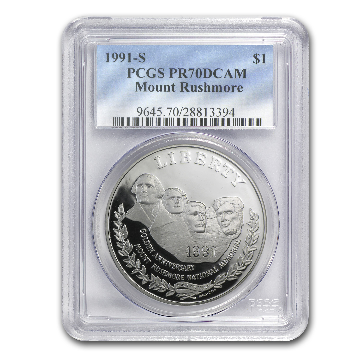 1991-S Mount Rushmore $1 Silver Commemorative PR-70 PCGS