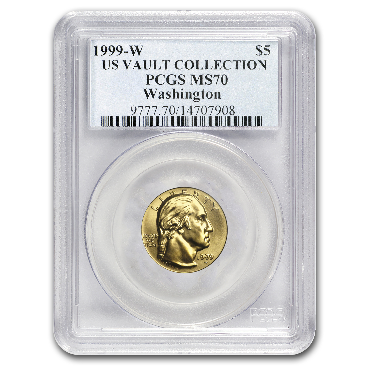1999-W Gold $5 Commem George Washington MS-70 PCGS