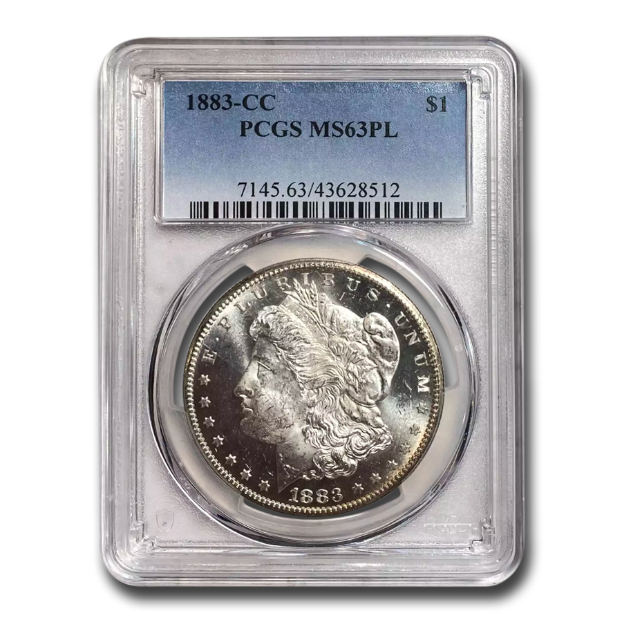 1883-CC Morgan Dollar MS-63 PL Proof Like PCGS
