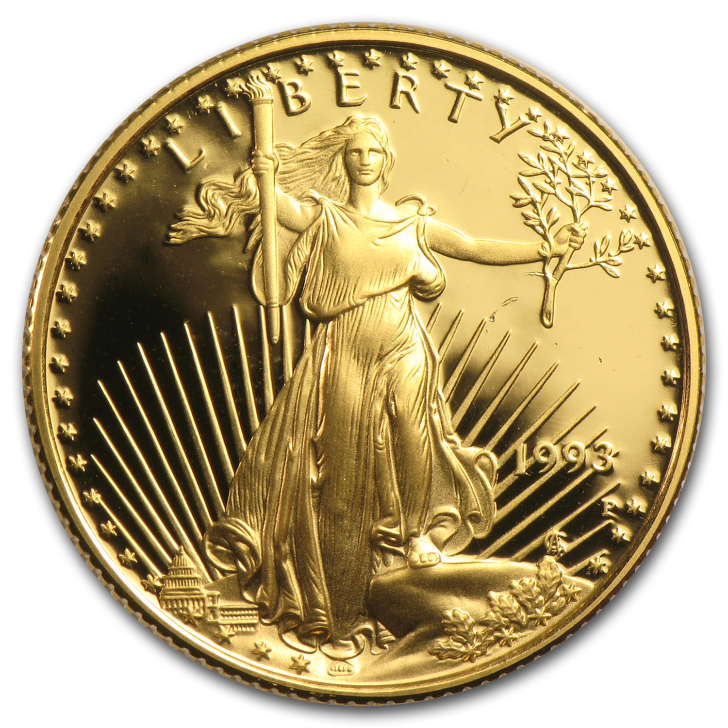 1/4 oz Proof Gold American Eagle (Random Year, Capsule Only)