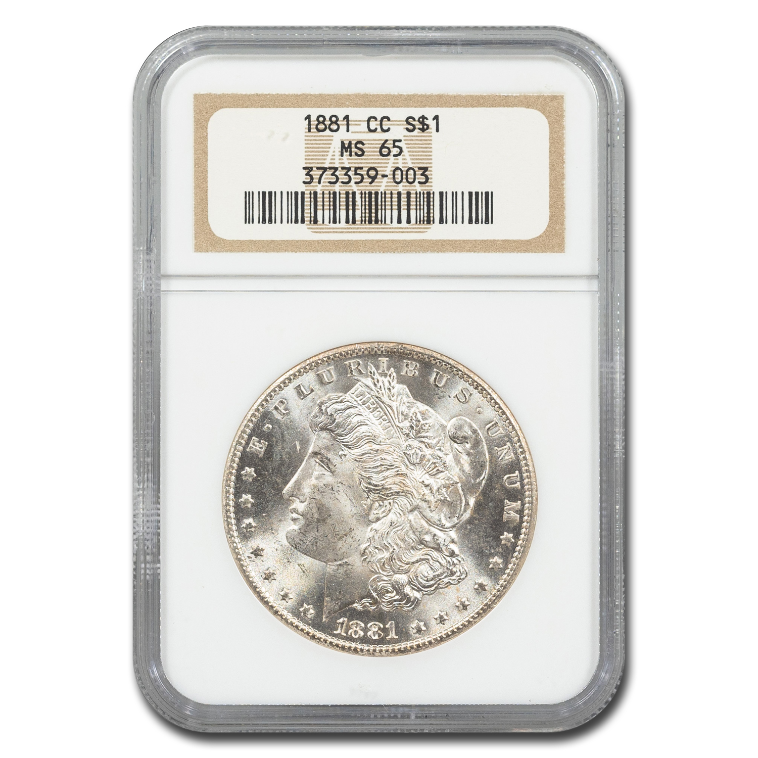 1881-CC Morgan Dollar MS-65 NGC