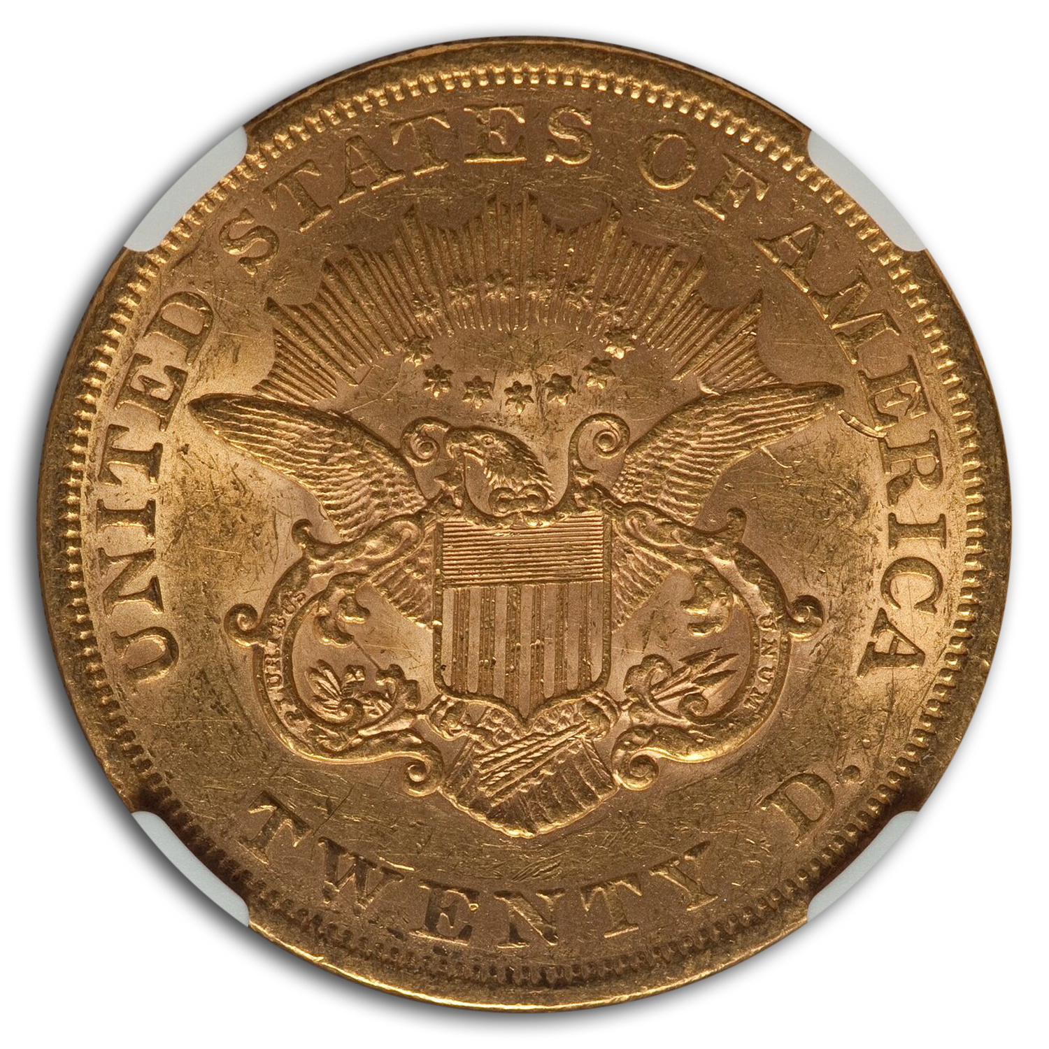 1861 $20 Liberty Gold Double Eagle AU-55 NGC