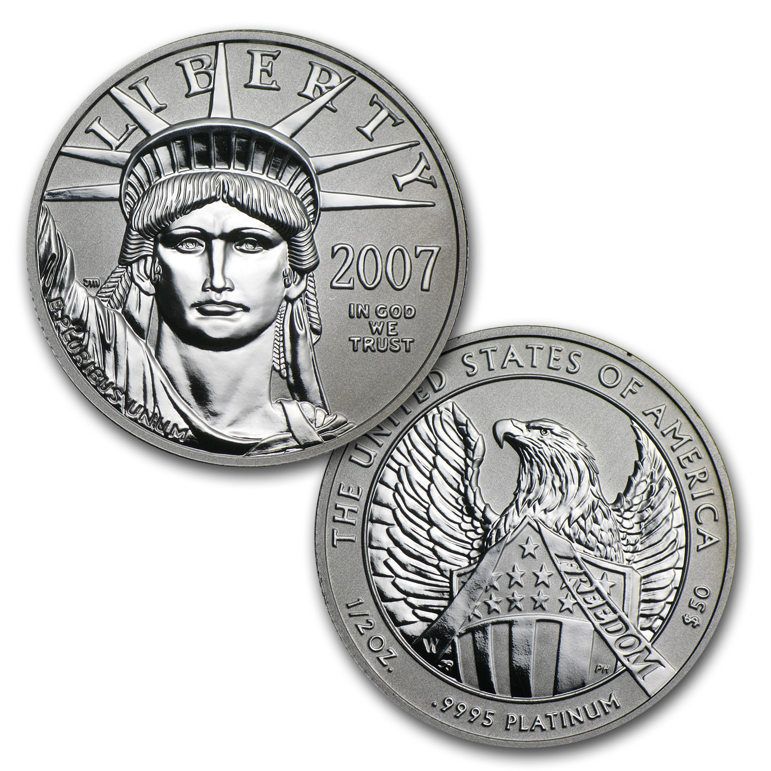 2007-W 2-Coin Proof Platinum American Eagle Set (10th Anniv.)