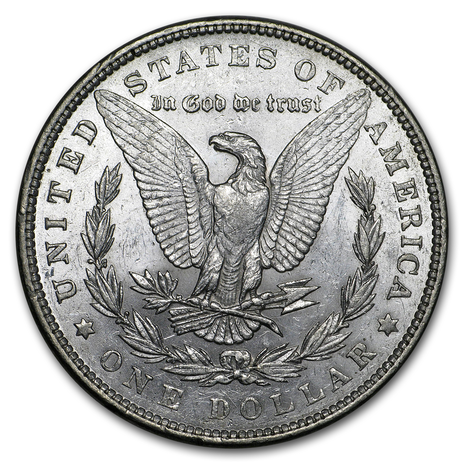 1878 Morgan Dollar - 7 Tailfeathers (Rev of 1879) AU-58