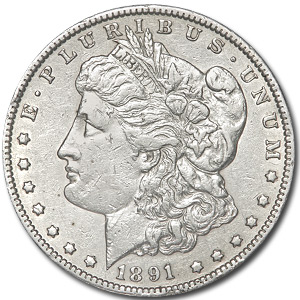 1891-CC Morgan Dollar - Almost Uncirculated Details - Cleaned