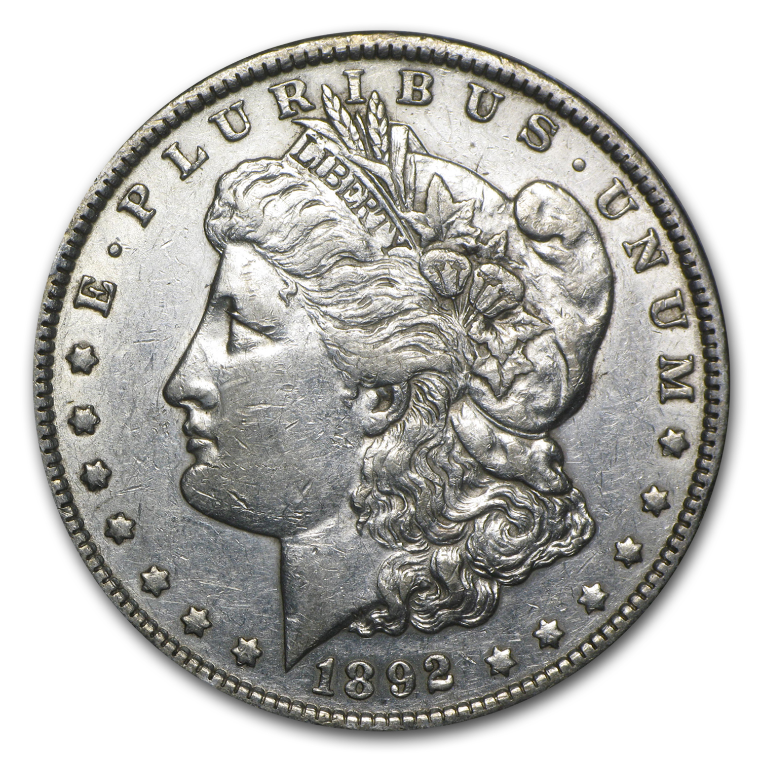 1892 Morgan Dollar - Almost Uncirculated-50